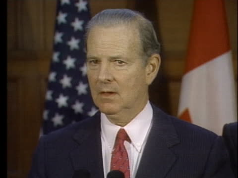 secretary of state james baker says that the crisis in the persian gulf can end peacefully and politically, but that must be decided in baghdad. - (war or terrorism or election or government or illness or news event or speech or politics or politician or conflict or military or extreme weather or business or economy) and not usa stock videos & royalty-free footage