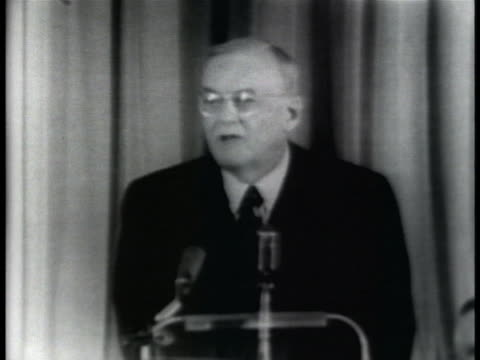 secretary of state john foster dulles speaks before a meeting between president eisenhower and congressional leaders about issuing sanctions against... - 1957 stock videos & royalty-free footage