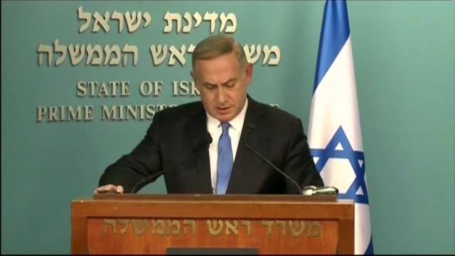 US Secretary of State John Kerry blames Israel for lack of peace in outgoing speech ISRAEL Jerusalem INT Israeli Prime Minister Benjamin Netanyahu to...