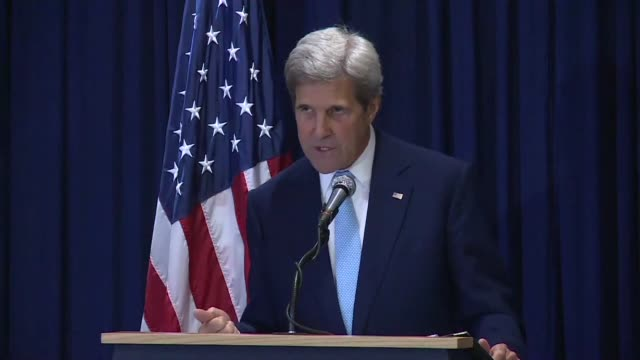 us secretary of state john kerry calls for the deployment of a 4000strong protection force to bolster the un peacekeeping mission in south sudan - nackenrolle kopfkissen stock-videos und b-roll-filmmaterial