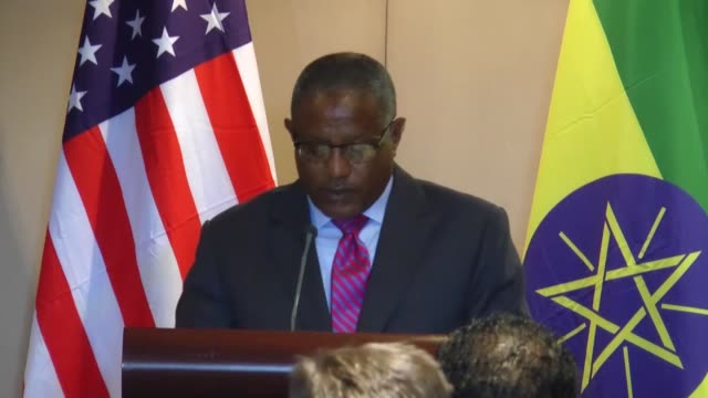 secretary of state mike pompeo and ethiopian foreign minister gedu andargachew alene hold a joint press conference in addis ababa, ethiopia on... - ethiopia stock videos & royalty-free footage