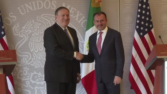 secretary of state mike pompeo and mexican foreign minister luis videgaray say that meetings between the two countries' top officials included talks... - us state border stock videos & royalty-free footage