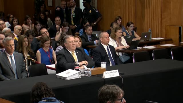 Secretary of State Mike Pompeo is asked by Senate Foreign Relations Committee Chairman Bob Corker to read a justreleased letter transmitted by the...