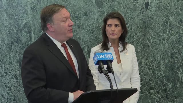 US Secretary of State Mike Pompeo urges UN member states to keep tough economic sanctions fully in place on North Korea and maintain pressure on Kim...