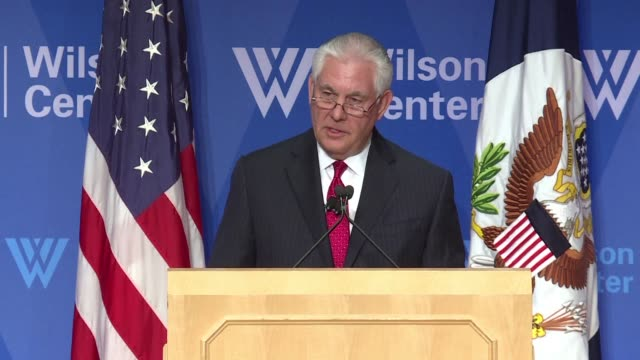 Secretary of State Rex Tillerson re commits the United States to opposing Moscow's aggression against European countries and urges Russia to be a...
