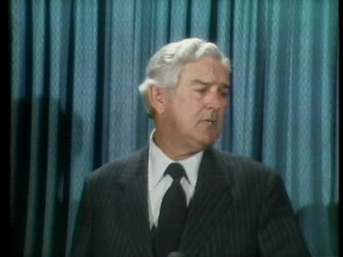 secretary of the treasury john connally announces his decision to switch from the democratic party to the republican party at a press conference in... - john connally stock videos & royalty-free footage