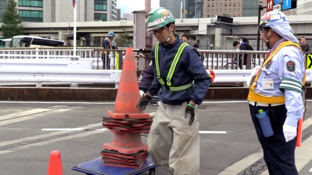 a section of a key artery connecting central tokyo to the waterfront area where the new toyosu fish market and planned venues for the 2020 olympics... - akihabara station stock videos and b-roll footage