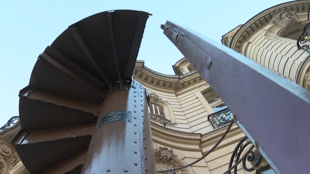 FRA: A section of the Eiffel Tower's staircase goes up for auction on Tuesday