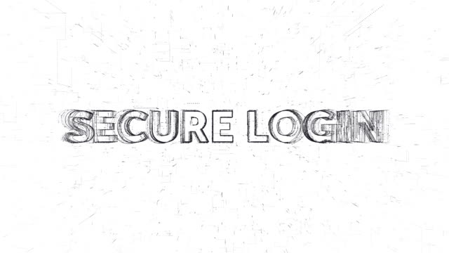 Secure Login word animation