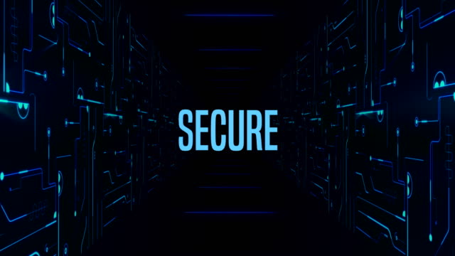 secure server database connection tunnel room - computer part stock videos and b-roll footage