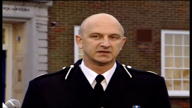 police raids continue assistant chief constable adrian leppard speaking to press sot in relation to the cash depot i can confirm securitas have... - audit stock videos and b-roll footage
