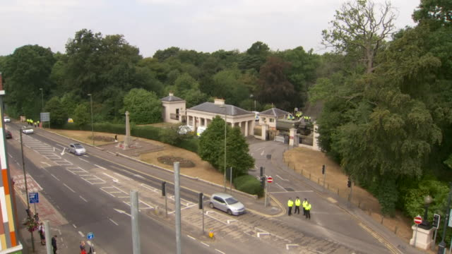 Security at Sandhurst during Donald Trump's first visit to the UK as President