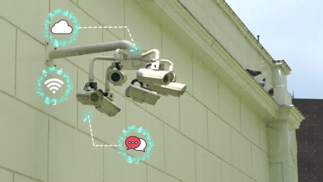 cctv security camera and internet of the things - security staff stock videos & royalty-free footage