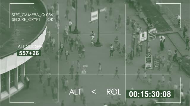 Security camera, city street / 4K