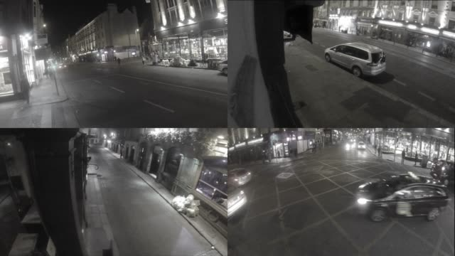 vidéos et rushes de images de caméra de sécurité cctv - caméra de surveillance