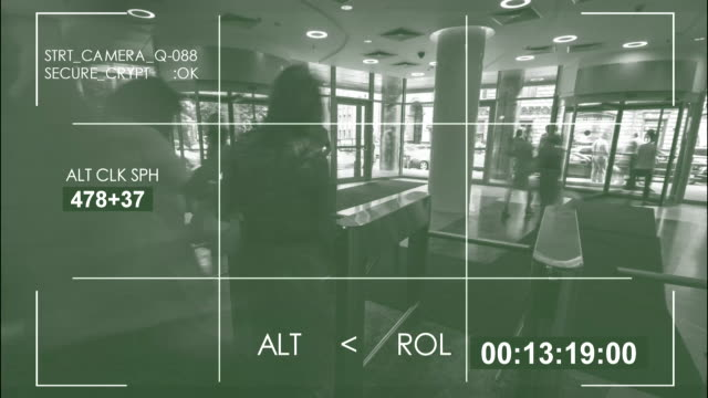 Security camera,  interior train station / 4K