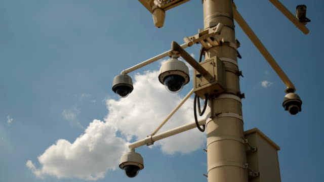 security camera - pole stock videos and b-roll footage