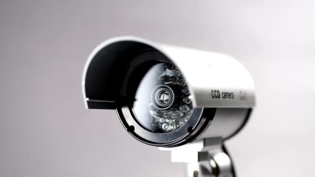 Security CCTV camera in studio