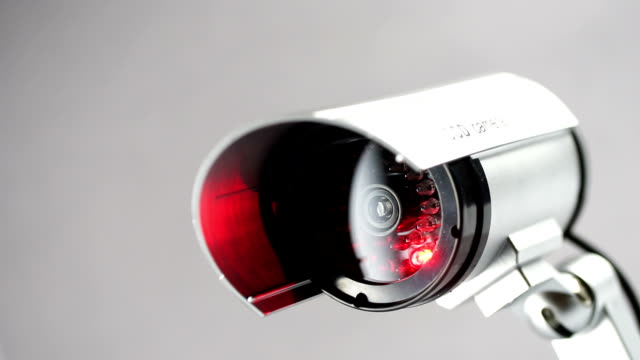 Security CCTV camera in studio