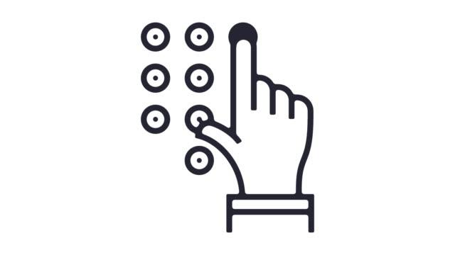 vídeos y material grabado en eventos de stock de seguridad limpieza línea icono animación - aprobado