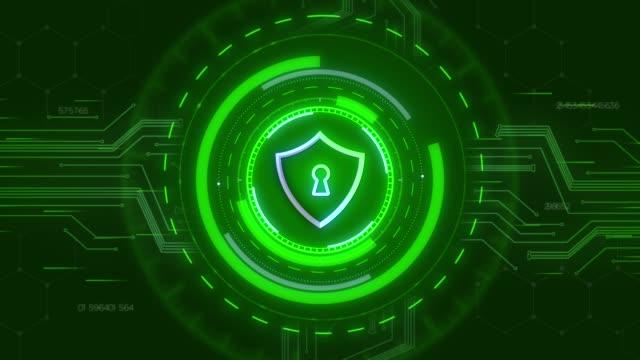 4k security concept head up display med hänglås - safe bildbanksvideor och videomaterial från bakom kulisserna