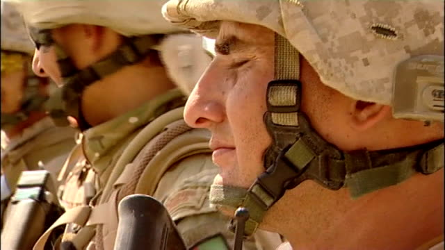 security control for sangin province handed over from britain to usa royal marines of 40 commando gathered in compound before embarking on final... - special forces stock videos & royalty-free footage