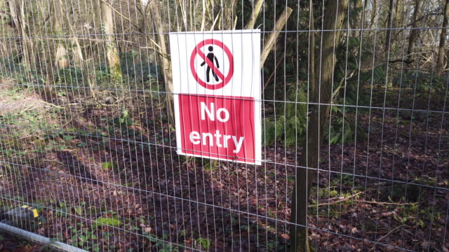a security fence erected in the ancient south cubbington wood marks the route for the hs2 line on january 28 2020 in leamington spa england the prime... - leamington spa stock videos & royalty-free footage