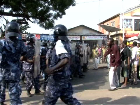 Security forces in Togo fired teargas on hundreds of protesters on Sunday as the opposition vowed to contest the results of an election won by the...