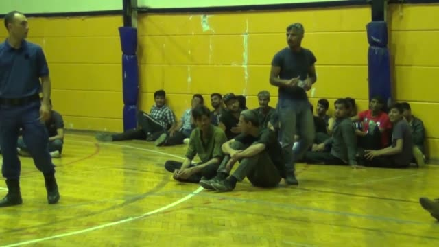 security forces on may 24 2018 held a total of 126 undocumented migrants in mugla western province of turkey turkish gendarmerie forces rounded up... - mugla province stock videos and b-roll footage