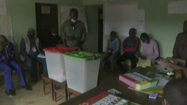 security forces start early voting in congo's presidential election ahead of the march 21 ballot that the catholic church warned could be distorted... - shaky stock videos & royalty-free footage