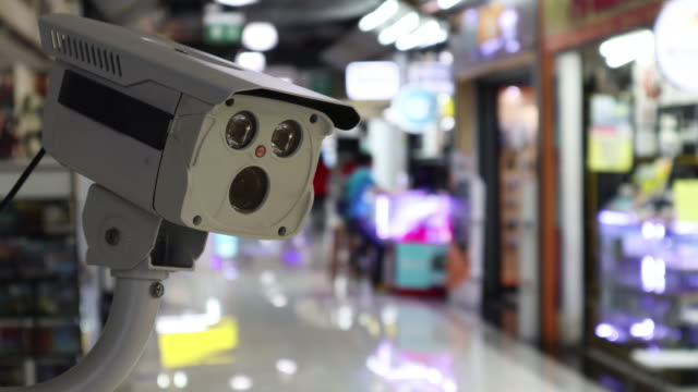 cctv security guard in the mall building. - security staff stock videos & royalty-free footage