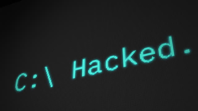 security hacked text on visual screen - security screen stock videos & royalty-free footage