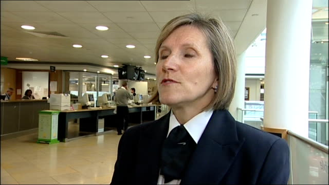 heathrow airport terminal 5 cancels fingerprint plans captain lynn barton working at computer screen captain lynn barton interview sot departure hall... - security screen stock videos & royalty-free footage