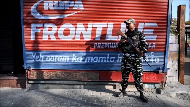 security is tight in indian kashmir's main city of srinagar for ashura the climactic 10th day of moharram the first month of the islamic calendar to... - muharram stock videos & royalty-free footage