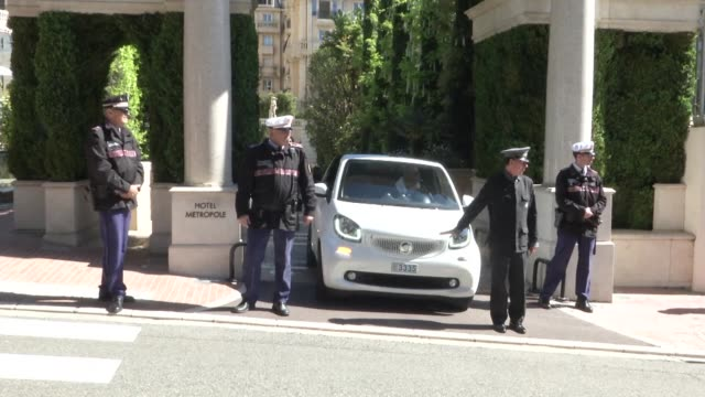 Security is tight in Monaco ahead of the second leg of their Champions League quarter final against Borussia Dortmund following last week's bomb...