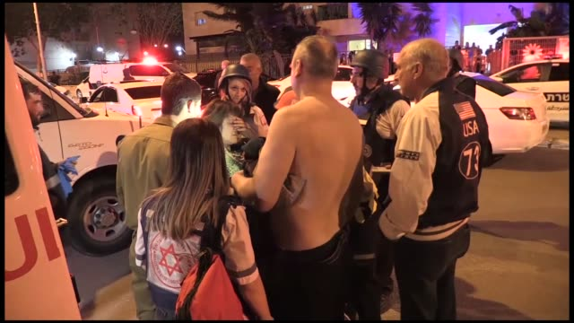 security measures are tightened due to the rising tension in ashkelon, israel on november 12, 2018. the hamas resistance group's military wing,... - 50 seconds or greater stock-videos und b-roll-filmmaterial