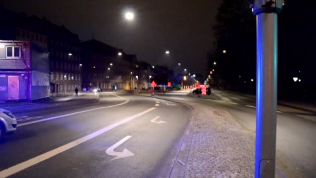 security measures are tightened on the streets of central copenhagen near norreport train station on february 15 2015 after one person was shot in... - on one leg stock videos & royalty-free footage