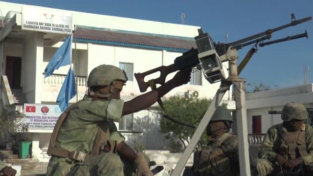Security measures are tightened on the streets of Mogadishu ahead of Turkish President Recep Tayyip Erdogan's visit in Somalia on January 25 2015