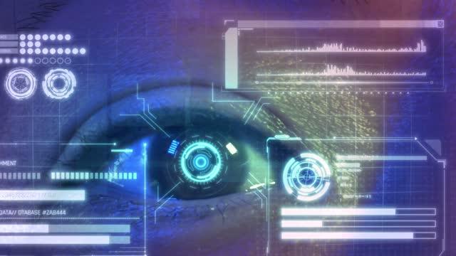 security retina scanner on asian chinese brown eye - retina stock videos & royalty-free footage