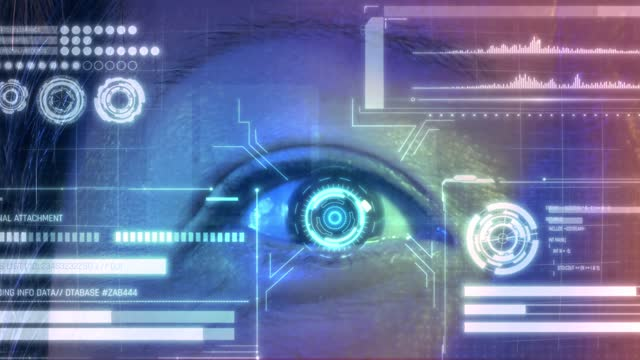 security retina scanner on asian chinese brown eye - human eye stock videos & royalty-free footage
