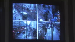 ms security surveillance monitors in control room at police station