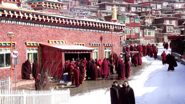 vidéos et rushes de seda buddhist institute, sichuan china - seda