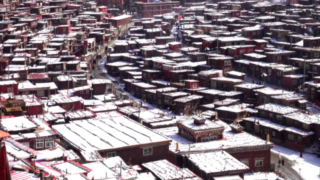 seda buddhist institute, sichuan china - seda stock videos & royalty-free footage