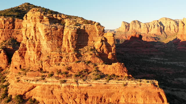 sedona arizona aerial view - red rocks stock videos & royalty-free footage