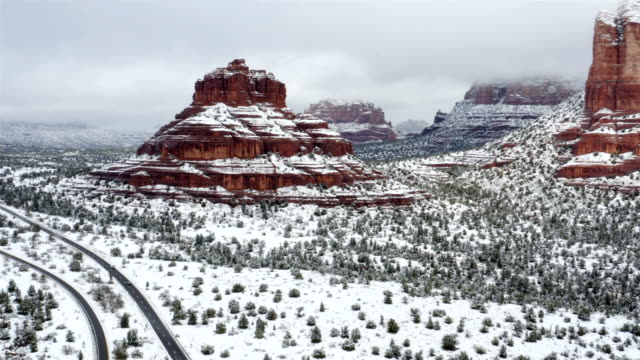 sedona, arizona in the winter - canyon stock videos & royalty-free footage