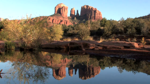sedona arizona red rocks locked - rock formation stock videos & royalty-free footage