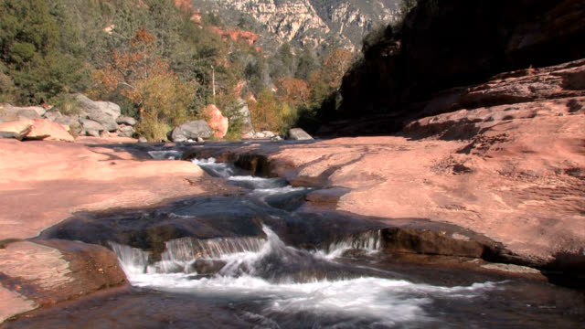 sedona arizona slide rock - sedona stock videos & royalty-free footage