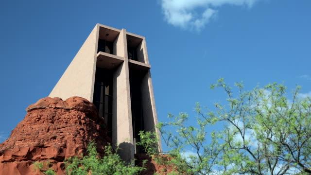 sedona chapel of the holy cross - chapel stock videos & royalty-free footage