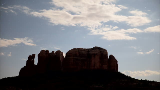 sedona rocks day to night - sedona stock videos & royalty-free footage