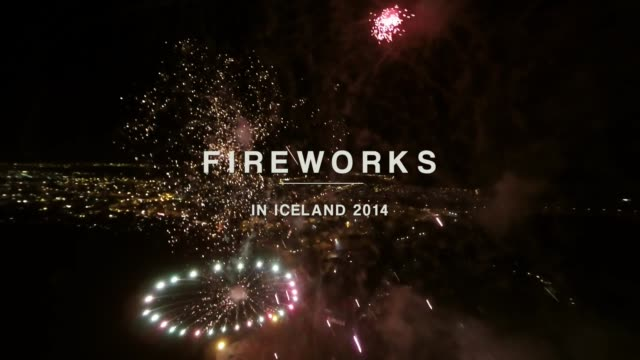 see fireworks from a new perspective as 'ozzo photography' takes you up to the sky using a quadcopter during a recent fireworks show in iceland enjoy... - quadcopter stock videos & royalty-free footage